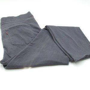 Levis Size 12 Gray Stretch Elastic Waist Jeans